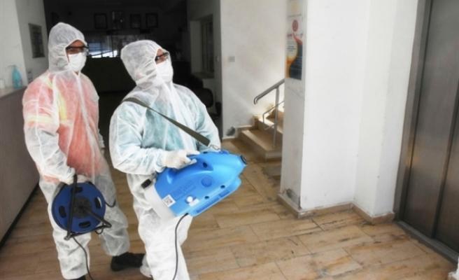 Girne'de okullar dezenfekte edildi