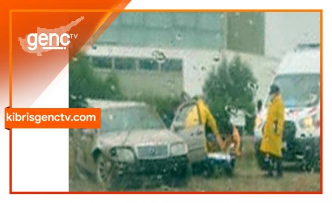Lefkoşa- Gazimağusa Anayolunda araç takla attı