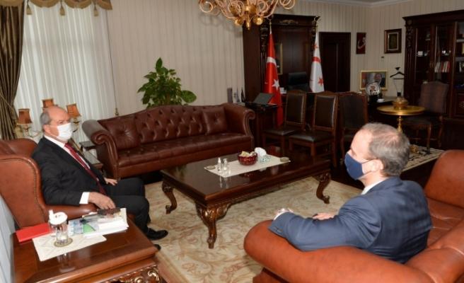 Tatar, İngiltere Dışişleri Bakanı Raab'ı kabul etti