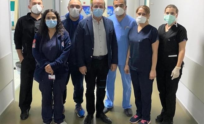Ataoğlu'dan Gazimağusa Devlet Hastanesi'ne ziyaret