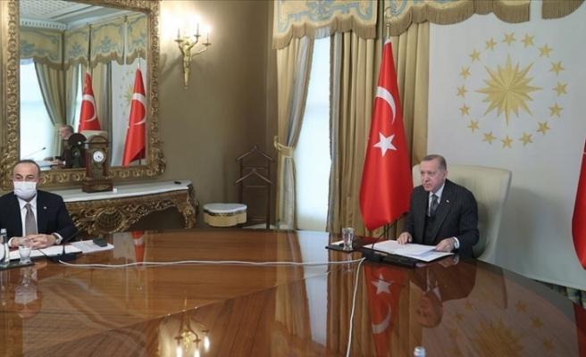 Erdoğan, AB Yönetimi ile görüştü...Kıbrıs ve Doğu Akdeniz de gündeme geldi