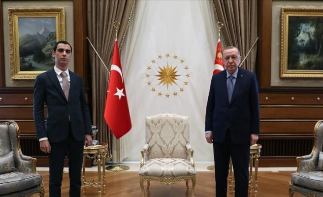 Erdoğan, Muhsin Yazıcıoğlu'nun oğlu Fatih Furkan Yazıcıoğlu'nu kabul etti