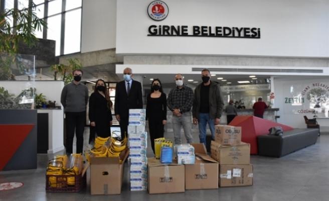 Antalya Muratpaşa Belediyesi'nden Girne Belediyesi'ne bağış