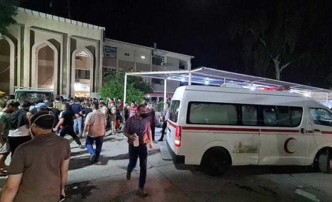 Bağdat'taki pandemi hastanesinde çıkan yangında 82 kişi hayatını kaybetti