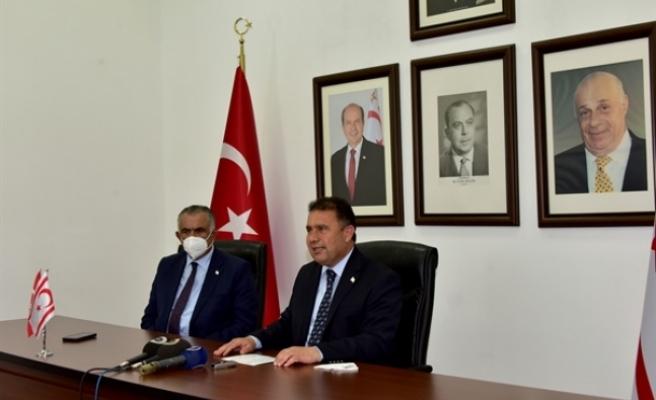 Başbakan Saner, yurda döndü