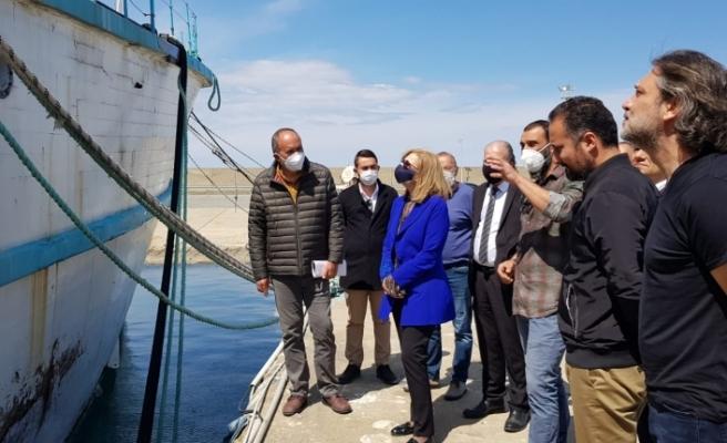 Canaltay, Girne Turizm Limanı'nda  incelemelerde bulundu