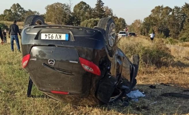 Geçitkale-Tatlısu Anayolu'nda kaza...1 kişi hayatını kaybetti