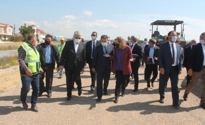 Karpaz'daki yol projeleri hız kazandı