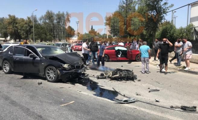 Lefkoşa'da kaza...1'i ağır 5 yaralı