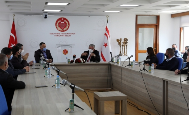 Meclis'te örgütlü sendikalar Meclis Başkanı ile görüştü