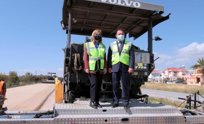 Saner ve Canaltay  Çayırova-İskele çift şerit yol yapımı çalışmalarını inceledi