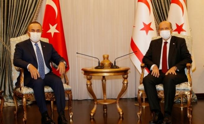 Tatar, Çavuşoğlu'nu kabul etti