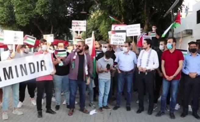 İsrail saldırıları KKTC'de protesto edildi