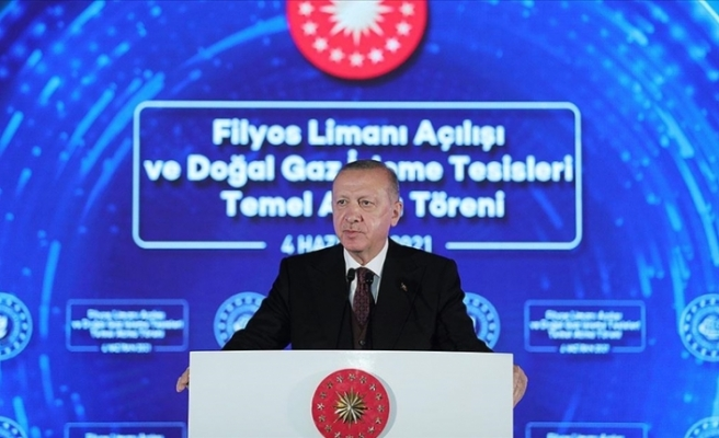 """Erdoğan: """"Amasra -1 kuyusunda 135 milyar metreküplük yeni bir doğal gaz keşfi daha yapıldı"""""""