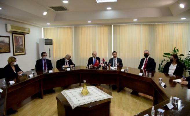 Ertuğruloğlu, CHP Genel Başkanı Kemal Kılıçdaroğlu ile görüştü