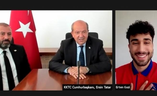 Tatar,  Erten Gazi ile çevrim içi görüşme yaptı