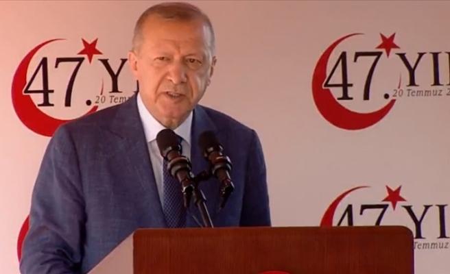 """Erdoğan: """"Kıbrıs konusunda haklıyız, sonuna kadar hakkımızı savunacağız"""""""