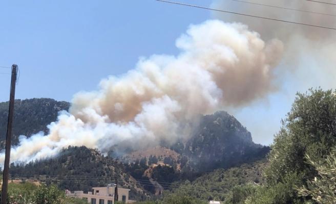 Karşıyaka'da yangın