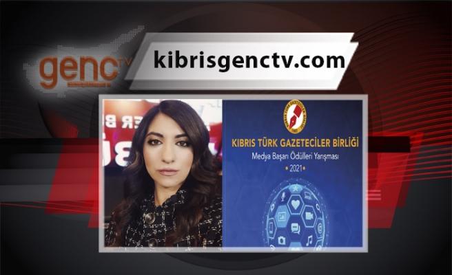 Kıbrıs Genç TV'den Muazzez Gazihan'a 'TV Haber Programı' ödülü