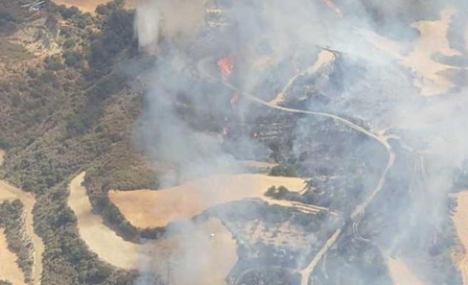 Baf'a bağlı Skulli köyü yakınlarında yangın çıktı