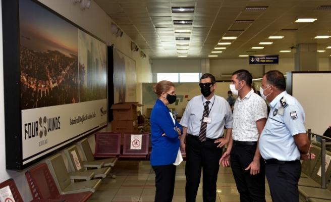 Canaltay, Ercan Havalimanı'nda incelemelerde bulundu
