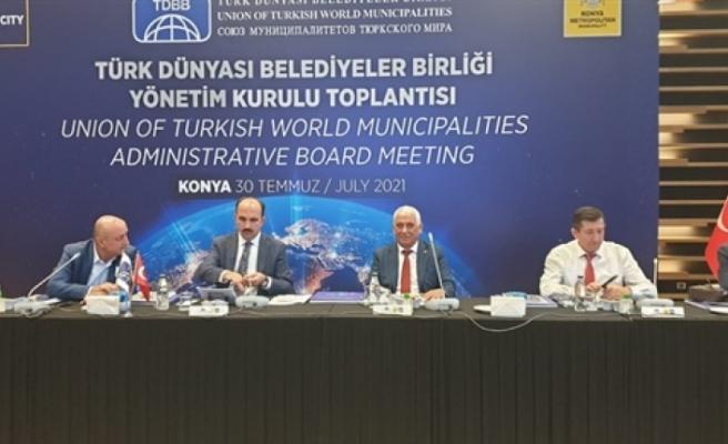 Özçınar, Türk Dünyası Belediyeler Birliği'nin  yönetim kurulu toplantısına katıldı
