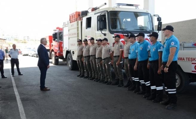 Sivil Savunma ekibi yola çıktı