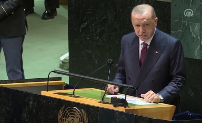 """Erdoğan, BM Genel Kurulunda vurguladı: """"Adanın iki halkından birinin liderinin size hitap edememesi adil değil"""""""