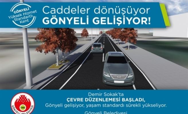 Gönyeli'de Demir Sokak Çevre Düzenleme Projesi'nin birinci etabına başlanıyor