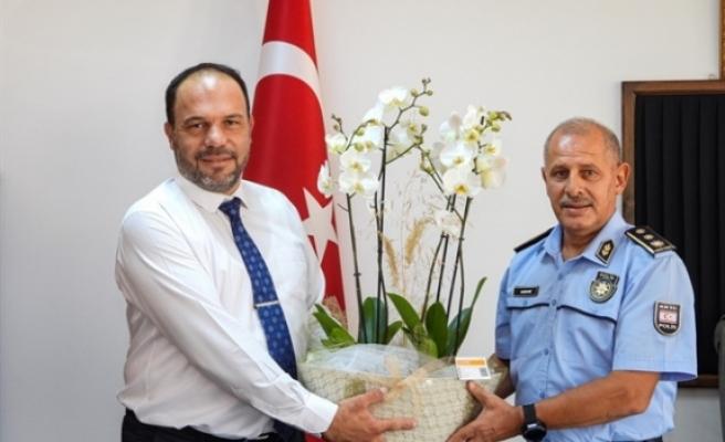 Sadıkoğlu'ndan İskele Polis Müdürüne ziyaret