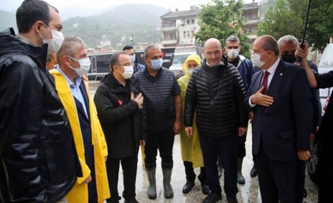 """Tatar'dan  Kastamonu'nun Bozkurt ilçesine """"geçmiş olsun"""" ziyareti"""