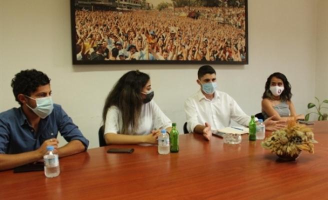 TDP Gençlik Örgütü'nden bir heyet CTP Gençlik Örgütünü ziyaret etti