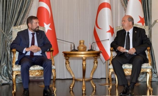 Tatar, Balıkesir Sındırgı Belediye Başkanı'nı kabul etti