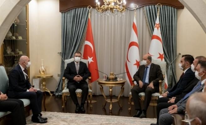 """Tatar: """"Kıbrıs Türk halkının egemenliğinin kabul edilmesi için mücadele veriyoruz"""""""