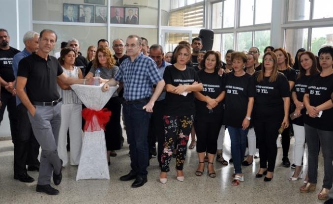 BAY-SEN BRT'DE 25 HİZMET YILINI DOLDURAN ÜYELERİNE PLAKET VERDİ