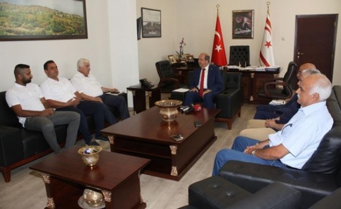 Kulüpler Birliği heyeti Başbakanlık'ta