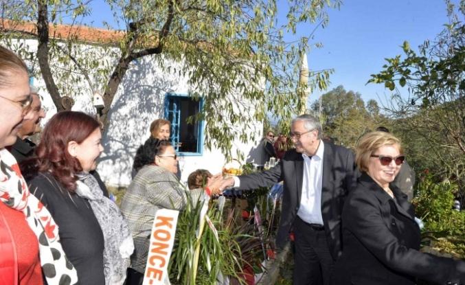 Akıncı, Butik Otel Ambelikou Guest House'un açılışını yaptı
