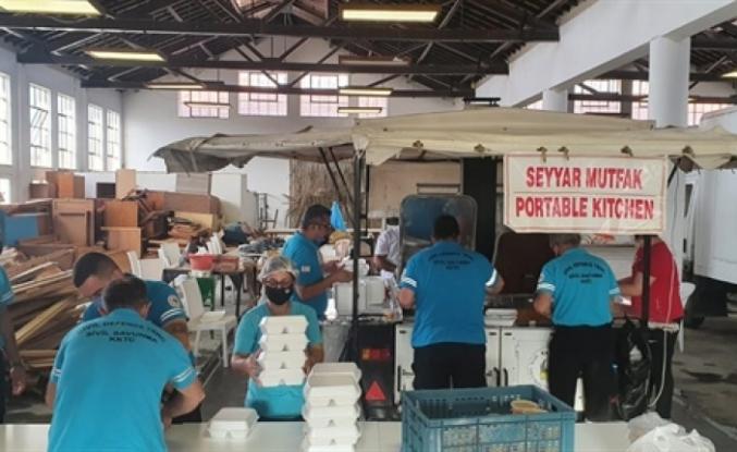 Sivil Savunma Teşkilatı Başkanlığı'nın paket servis iftar yemekleri tamamlandı