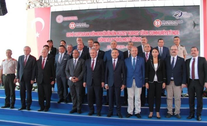 """Girne'de """"Gemi Kurtaran"""" römorkörünün KKTC'de görevlendirilmesi töreni"""