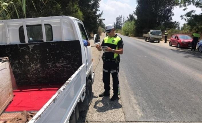 322 araç sürücüsü hakkında işlem, 1 araç trafikten men edildi