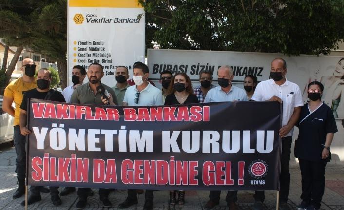 KTAMS'tan  Vakıflar Bankası yönetimine protesto