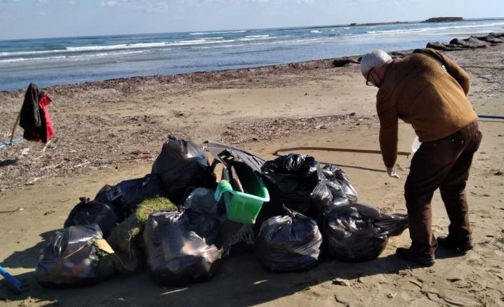Glapsides Sulak Alanı çevresi ve Glapsides Halk Plajı'ı temizlendi