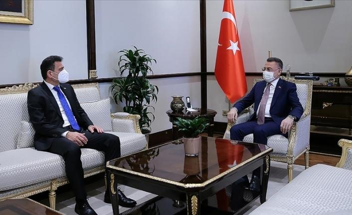 Fuat Oktay, Maliye Bakanı Dursun Oğuz'u kabul etti